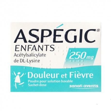 Asp&eacutegic enfants poudre orale 250 mg