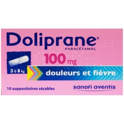Doliprane suppositoire 100 mg