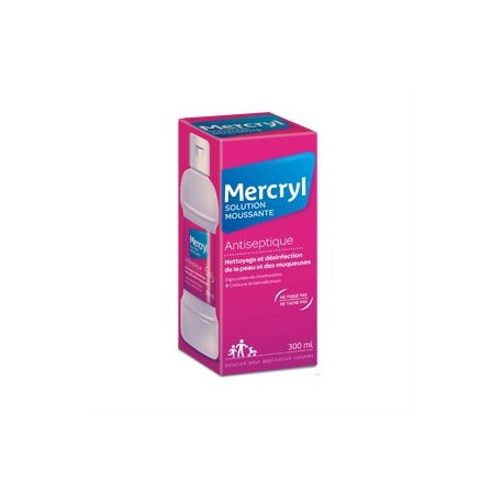 Mercryl solution moussante solution pour application cutanée 300ml