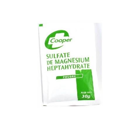 Cooper Sulfate de magnesium heptahydrate en poudre 30g