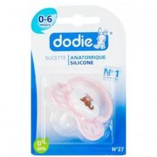 Dodie sucette anatomique silicone n°27 de 0 à 6 mois