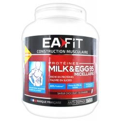 Eafit Construction Musculaire Saveur Chocolat Milk & Egg 95 Micellaire 750 g