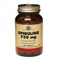 SOLGAR SPIRULINE 750 MG TABLETS 100