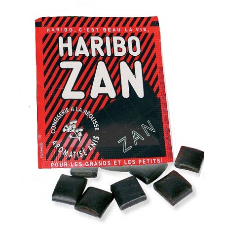 Haribo zan confiserie réglisse aromatisé anis 60 petits pains