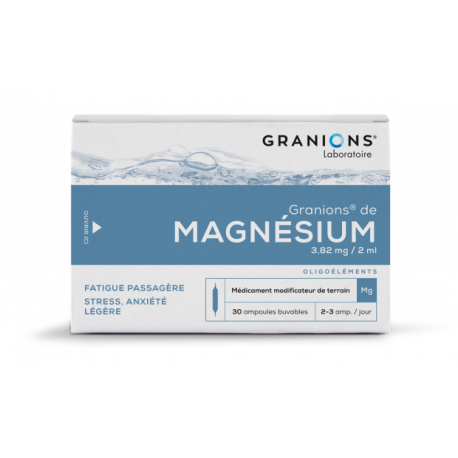 Granions de Magnésium 3.82 mg / 2 ml