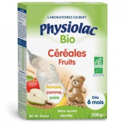PHYSIOLAC CEREALES FRUITS 200G CERTIFIE BIO