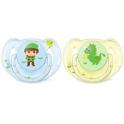 AVENT SUCETTE CLASSIC ANIMAUX 6-18 MOIS X2
