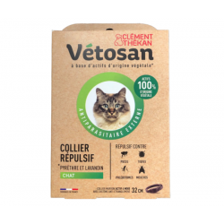 VETOSAN COLLIER CHAT REPULSIF AVEC SYSTEME ANTI-ETRANGLEMENT 32 CM