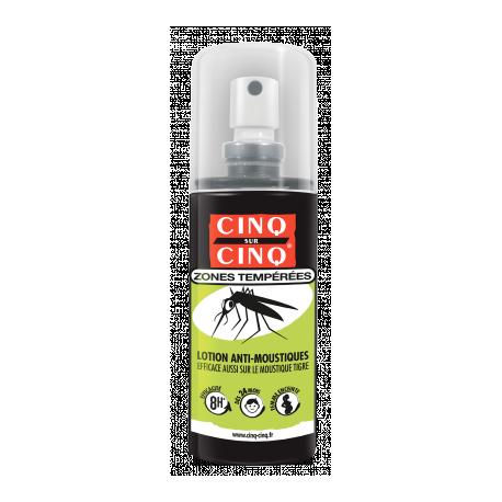 Cinq sur Cinq lotion anti-moustiques zones tempérées 100ml