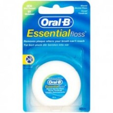 ORAL B essential floss fil dentaire ciré menthe 50m