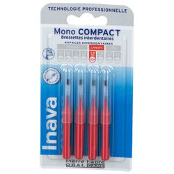 INAVA MONO COMPACT Brossettes interdentaires ROUGE 1.5