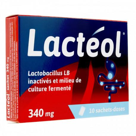 Lacteol 340mg poudre pour suspension buvable en 10 sachets-doses