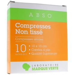 MARQUE VERTE COMPRESSES NON TISSEES STERILES 10 X 10 CM 10 SACHETS DE 2