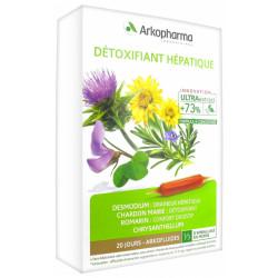 ARKOFLUIDES DETOXIFIANT HEPATIQUE 20 AMPOULES DE 10ML
