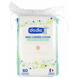 DODIE MAXI CARRES 100% COTON BIO X 60
