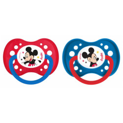 DODIE Disney Baby 2 Sucettes Anatomiques Silicone 18 Mois et + / Mickey
