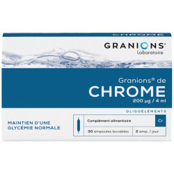 Ea pharma granions de chrome cr 30 ampoules