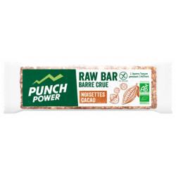 PUNCH POWER Raw Bar Bio 35 g - Saveur : Noisettes Cacao