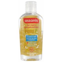 ASSANIS Pocket Gel Hydroalcoolique Sans Rinçage pour les Mains 80 ml - Senteur : Poire