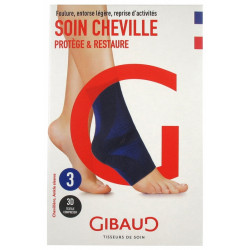 GIBAUD Soin Cheville Chevillère Bleue - Taille 3