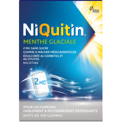 NIQUITIN GOMMES 2MG X 100 MENTHE GLACIALE