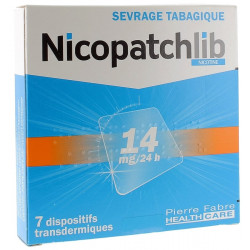 NICOPATCHLIB 14MG/24H 7 dispositifs transdermiques