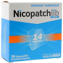 NICOPATCHLIB 14MG/24H 28 dispositifs transdermiques