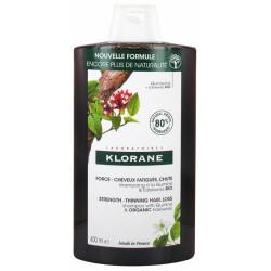 Klorane Force - Cheveux Fatigués & Chute Shampoing à la Quinine et Edelweiss Bio 400 ml