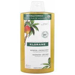 Klorane Nutrition - Cheveux Secs Shampoing à la Mangue 400 ml
