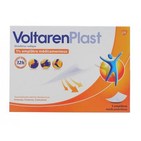 VoltarenPlast 1% 5 emplâtres