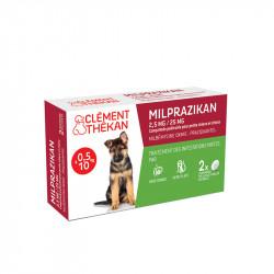 Milprazikan 2,5mg/25mg comprimés pelliculés pour petits chiens et chiots x2