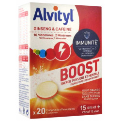 Alvityl Boost Ginseng et Caféine 20 Comprimés Effervescents