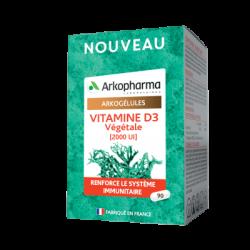 Arkogélules Vitamine D3 Végétale (2000 UI) 90 gélules