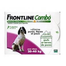 Merial Frontline Combo pour chien de 20 à 40kg 3 pipettes