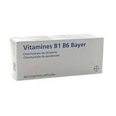 Vitamines B1 B6 Bayer 40 cpés, fatigue passagère chez l'adulte
