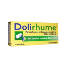 Dolirhume paracétamol et pseudoéphédrine 500 mg / 30 mg