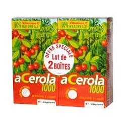 Arkopharma acerola 1000 lot de 2 x 30 comprimés