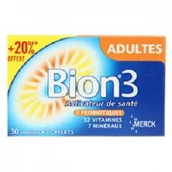 Merck Bion 3 adultes promo 30 comprimés + 7offerts