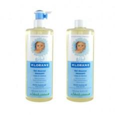klorane bébé gel douceur moussant corps et cheveux duo 500ml