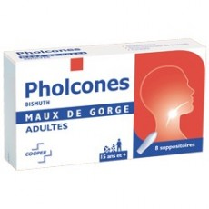 Pholcones bismuth adultes 8 suppositoires