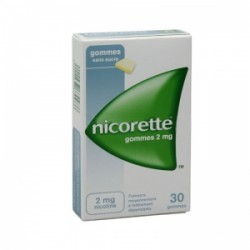 NICORETTE 2mg SANS SUCRE gomme à mâcher médicamenteuse édulcorée au sorbitol