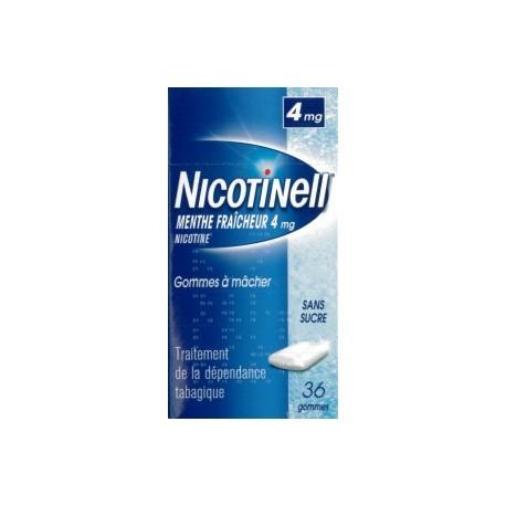 NICOTINELL 4MG MENTHE FRAICHE 36 GOMMES à mâcher