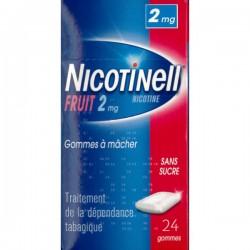 NICOTINELL FRUIT 2mg SANS SUCRE gomme à mâcher médicamenteuse