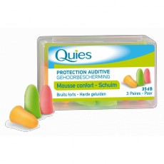 Quies mousse confort fluo 3 paires