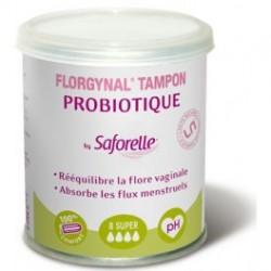 Saforelle Florgynal probiotique super 8 tampons