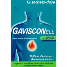 Gavisconell menthe sans sucre à la saccharine sodique 12 sachets dose