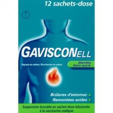 Gavisconell menthe sans sucre suspension buvable édulcorée à la saccharine sodique