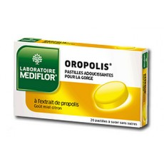 Mediflor Oropolis Pastilles adoucissantes pour la gorge Miel Citron x 20